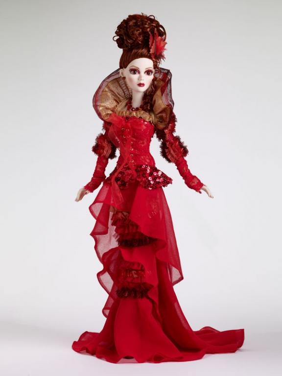 Кукла Tonner Evangeline Ghastly Devil Fire /Конвенционная Эванджелин Огненный дьявол от Тоннер, новая в коробке, LE125